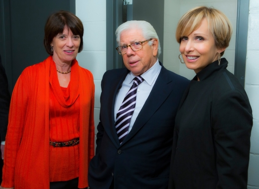 Susan Lisovicz with  Carl-Bernstein & President, William Paterson University Kathleen Waldron