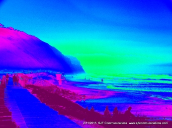 "Heat Map of Torrey Pines State Beach ""Heat Map"" SJF Communicationswww.sjfcommunications.com"