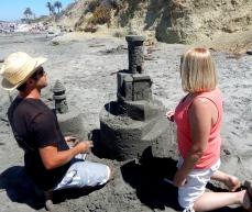 San Diego Sand Castles Sand Sculptor Tony Leib with Catherine