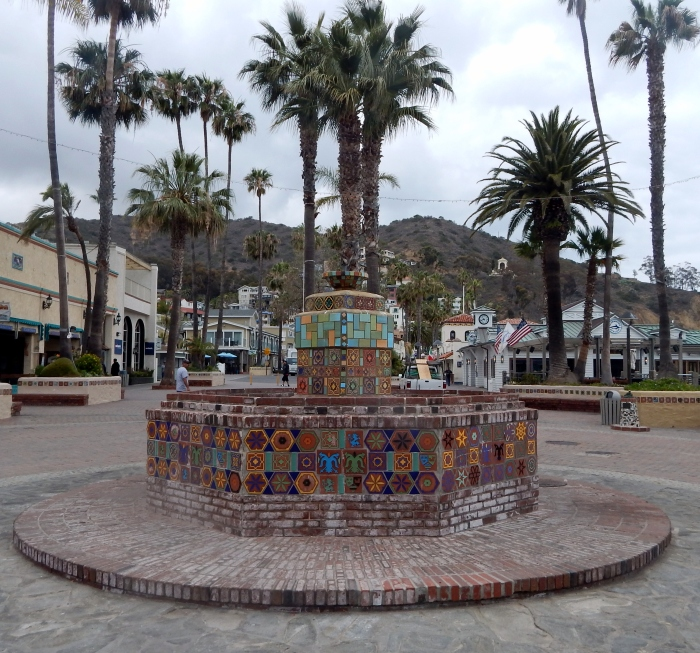 The tiled fountain at Crescent Street, Avalon