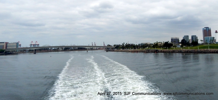 Leaving the Long Beach Harbor