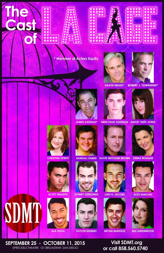SDMT La Cage Aux Folles Headshot Poster