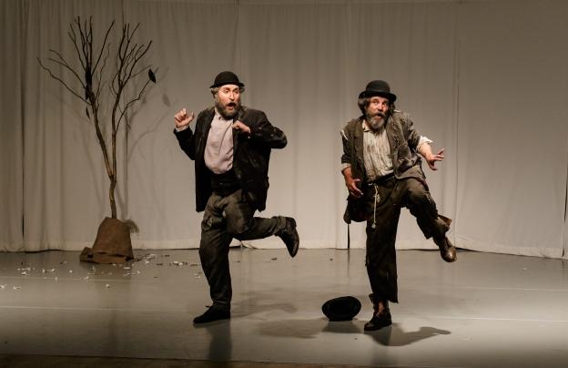 Tom Steward (Vladimir/Didi) and Joe Powers (Estragon/Gogo)