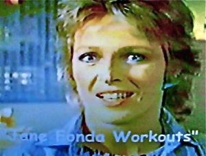 Nancy Locke Capers in Jane Fonda Work-Out Wear Commercial