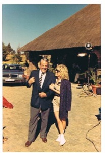 "Nancy Locke Capers with Kevin McCarthy in ""Hostage"" (South Africa)"